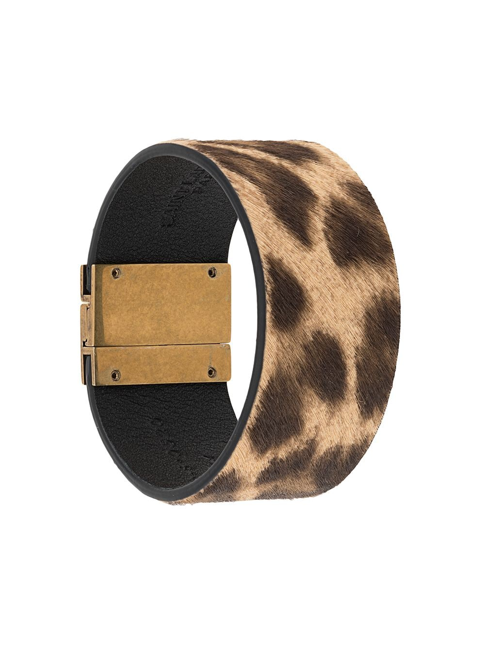 Id Cuff Leather Bracelet