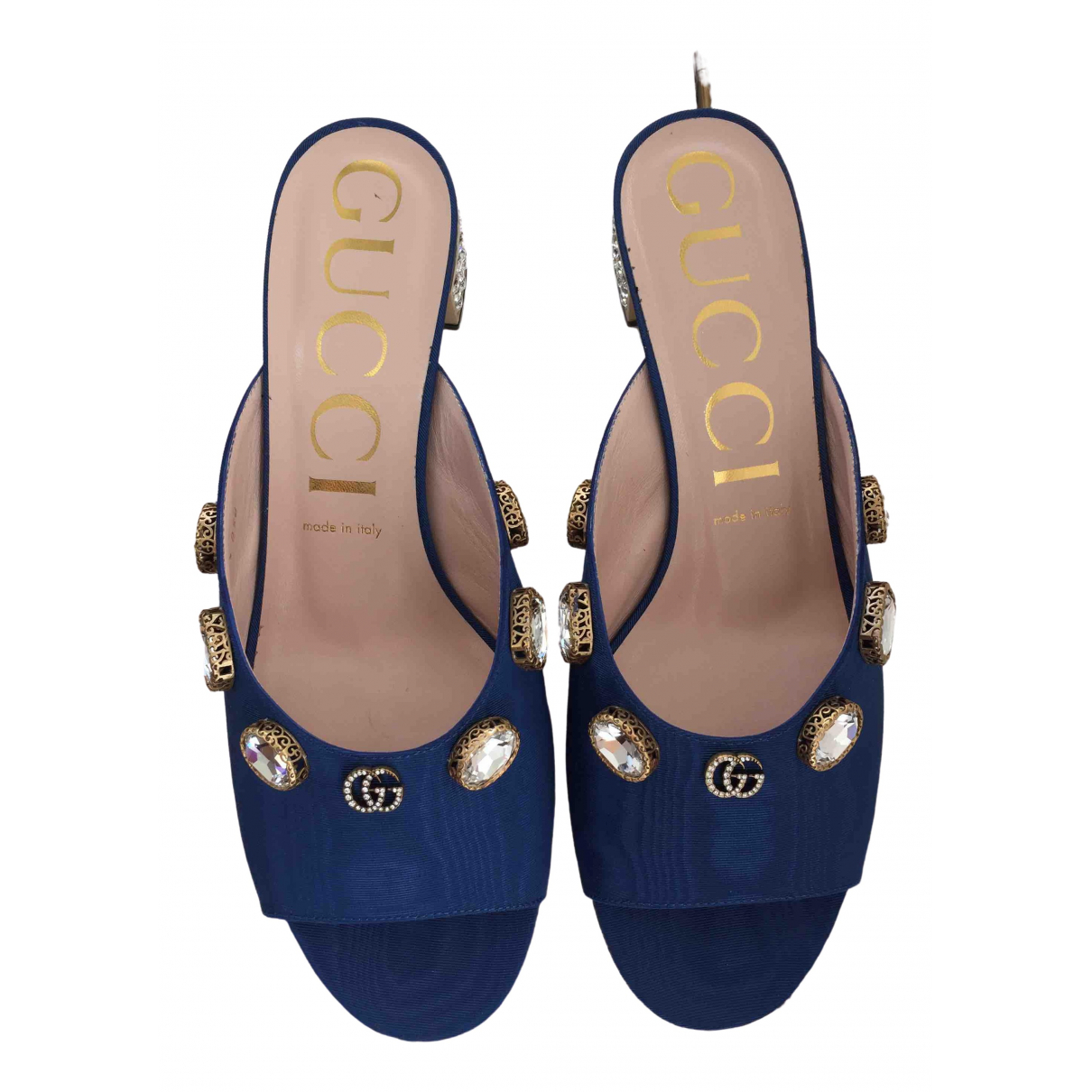 Gucci \N Blue Cloth Sandals for Women 40.5 EU
