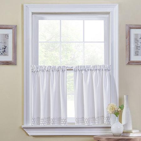 Regent Rod-Pocket Window Tiers, One Size , White