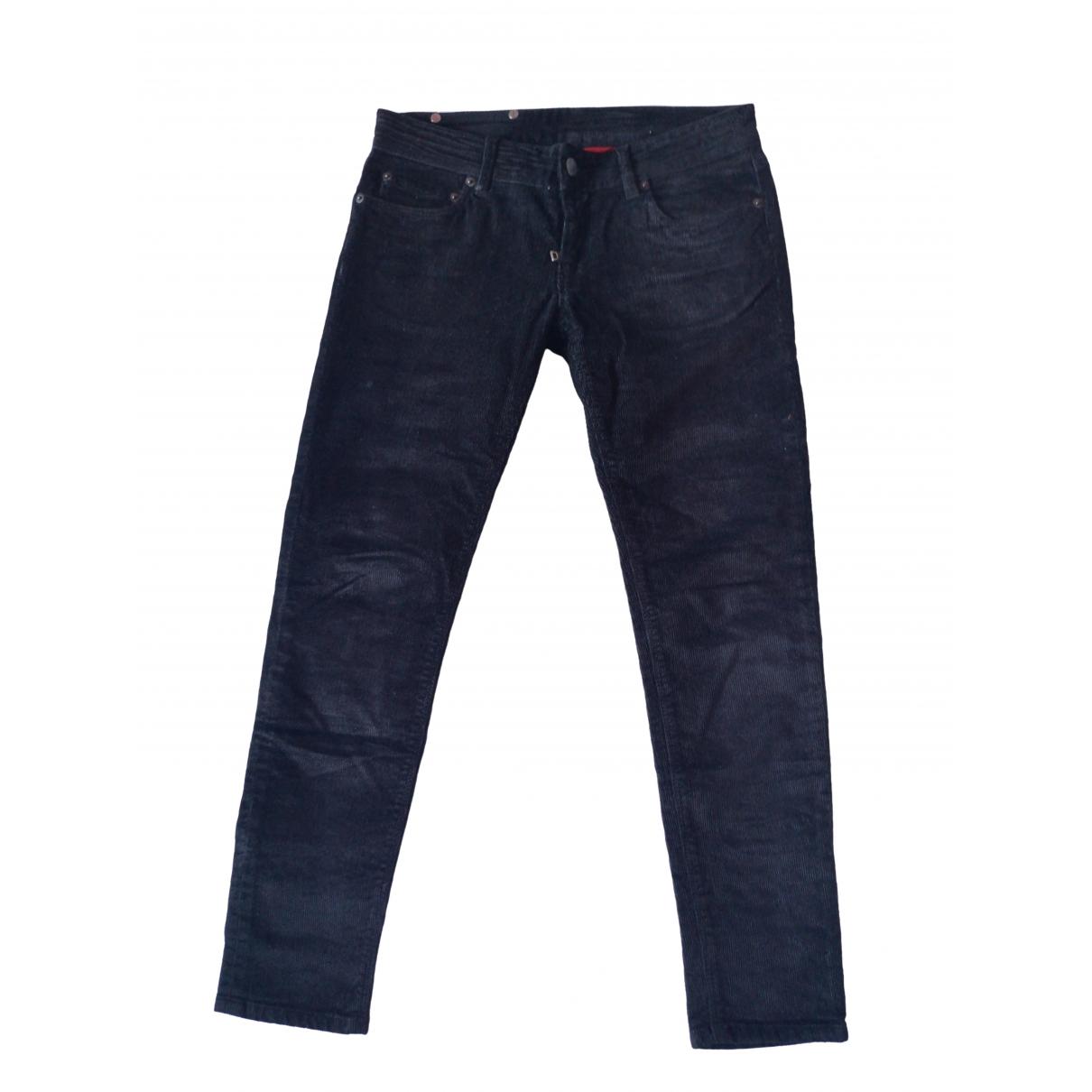 Prada \N Black Velvet Trousers for Women 40 IT