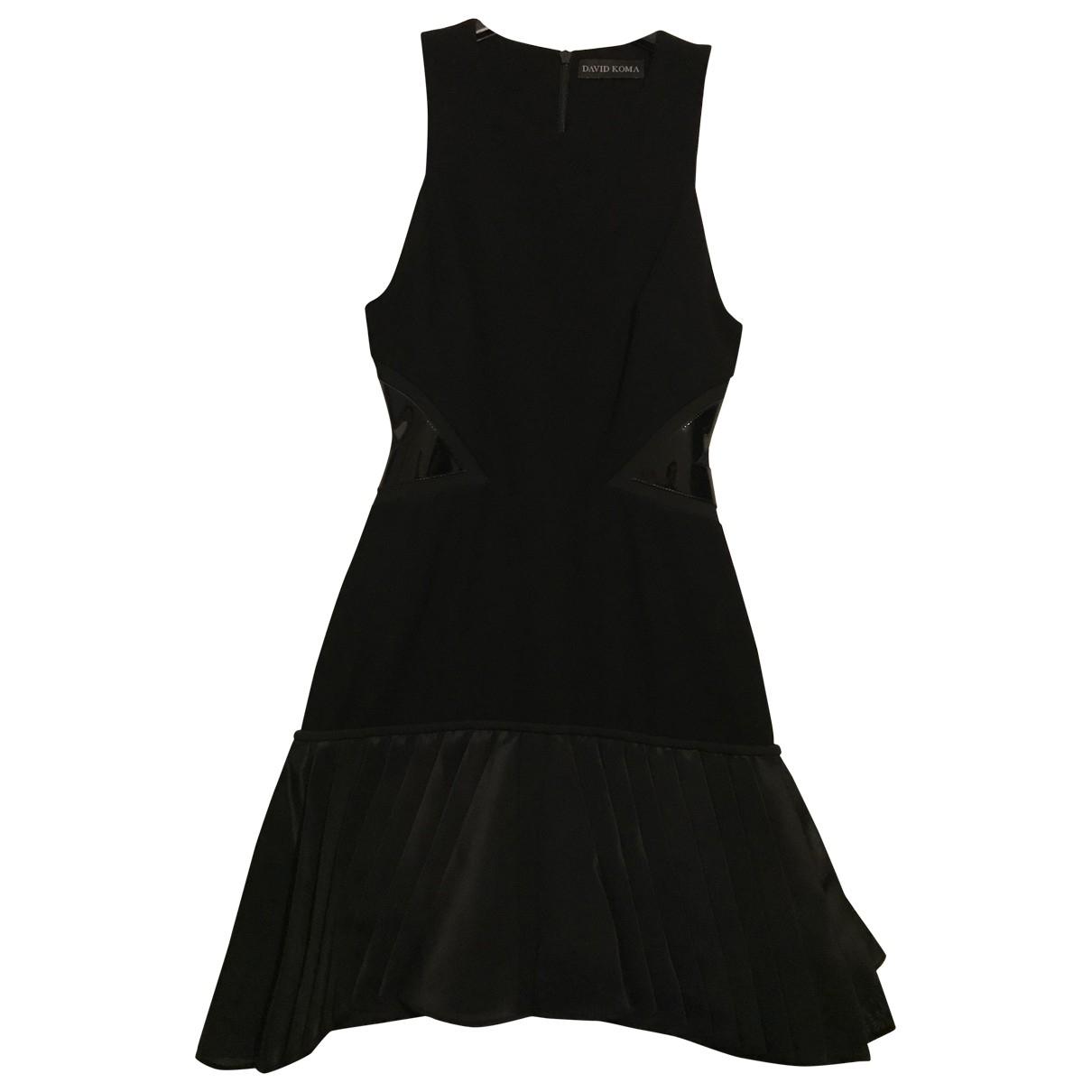 David Koma \N Kleid in  Schwarz Seide