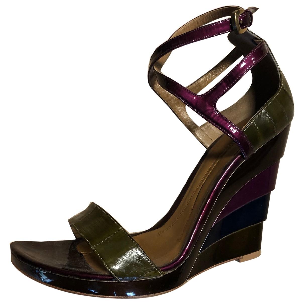 Baldinini - Sandales   pour femme en cuir verni - multicolore