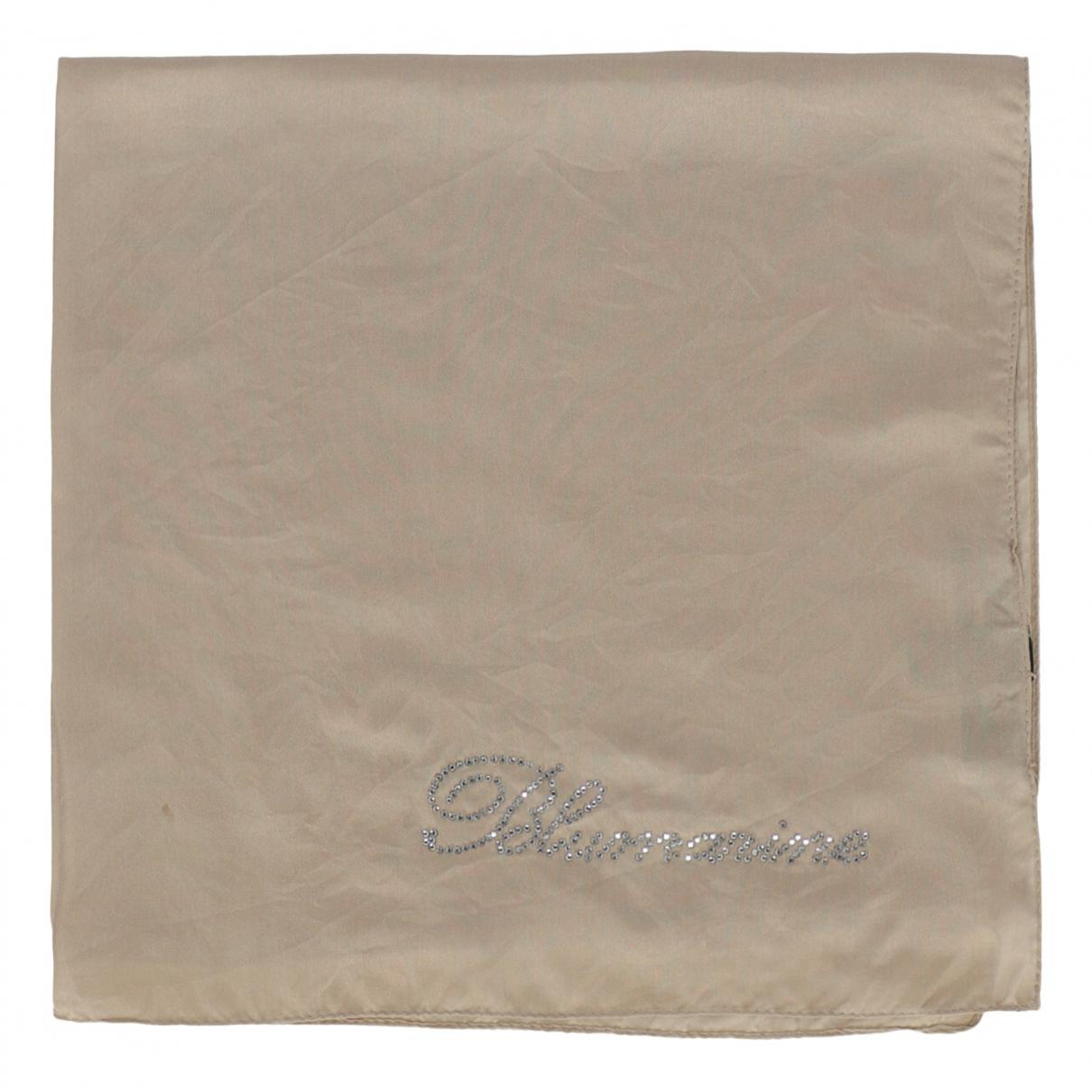 Blumarine \N Schal in  Beige Seide