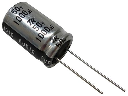 Toshin Kogyo 470μF Electrolytic Capacitor 63V dc, Through Hole - 1JUTSJ471M0 (100)