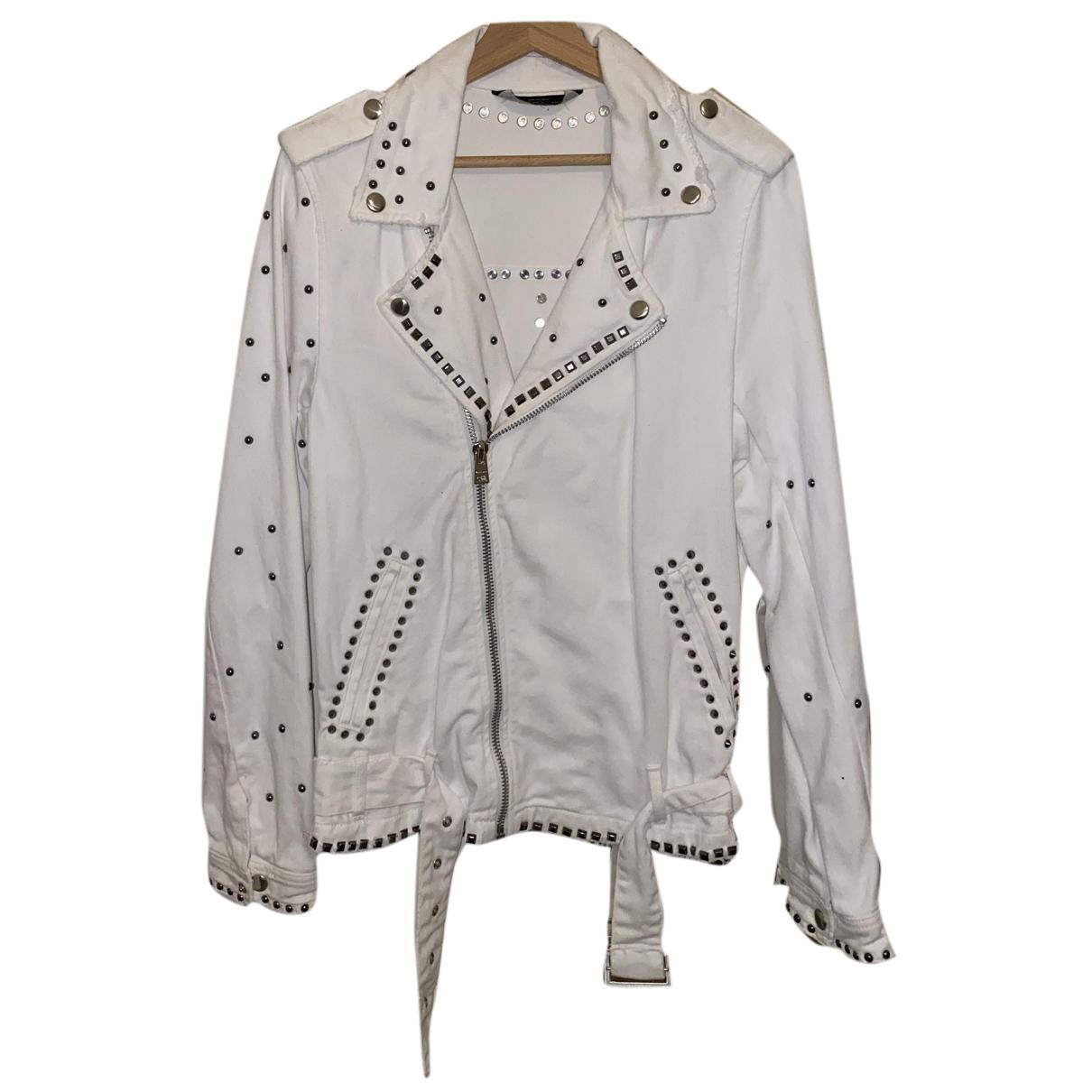 Zara - Vestes.Blousons   pour homme en denim - blanc