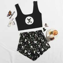 Pajama Set mit Halloween Muster