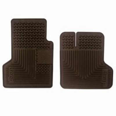 Jeep Front Rubber Floor Mats (Black) - 82204673AB