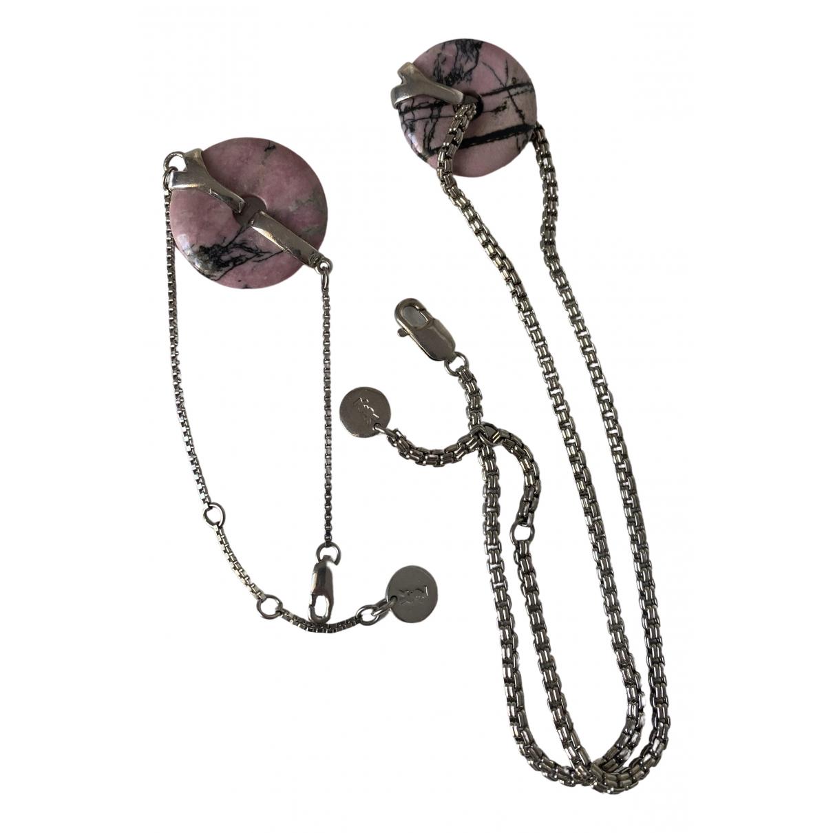 Yves Saint Laurent N Silver Metal Jewellery set for Women N