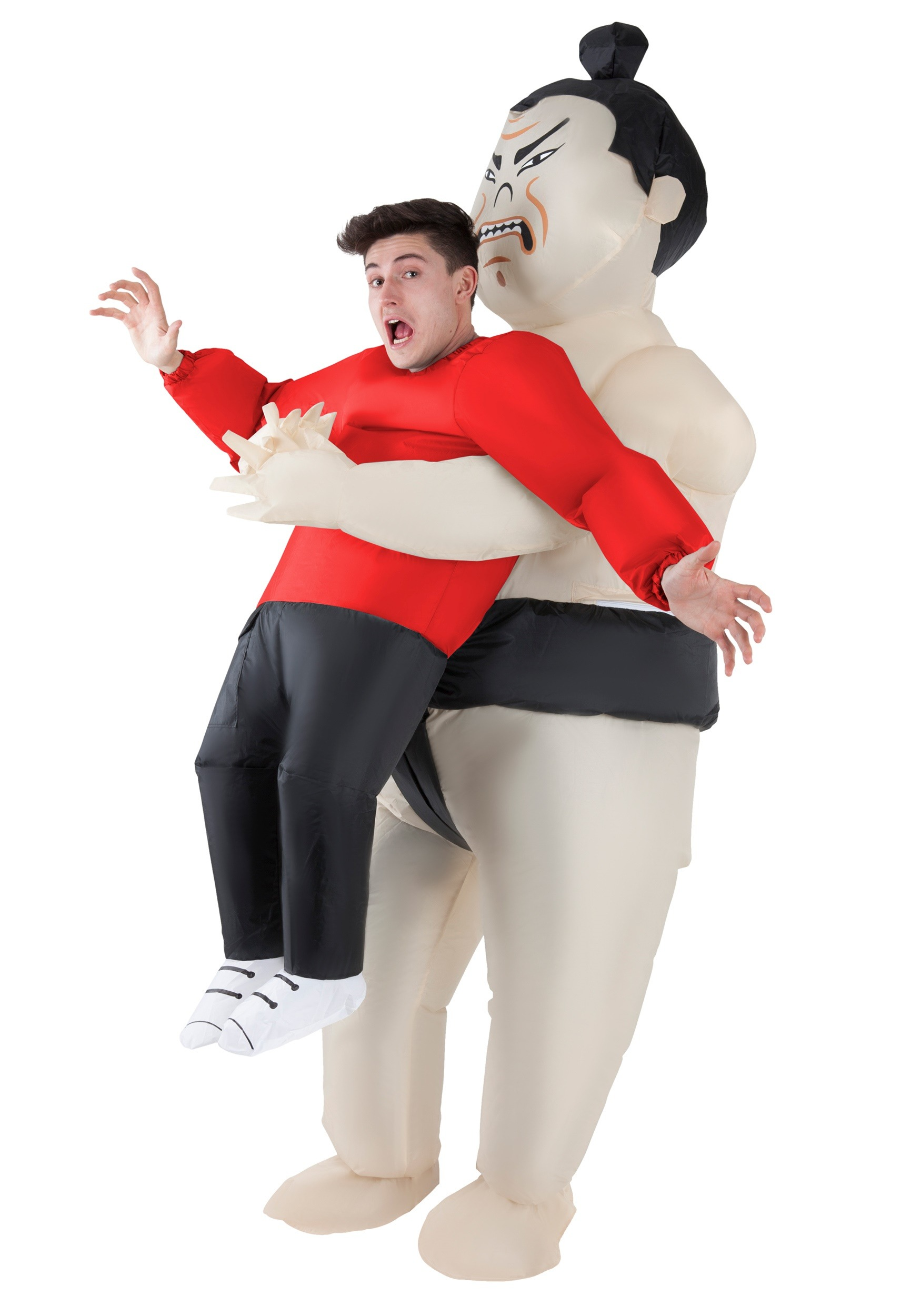 Inflatable Sumo Wrestler Pick Me Up Adult Costume