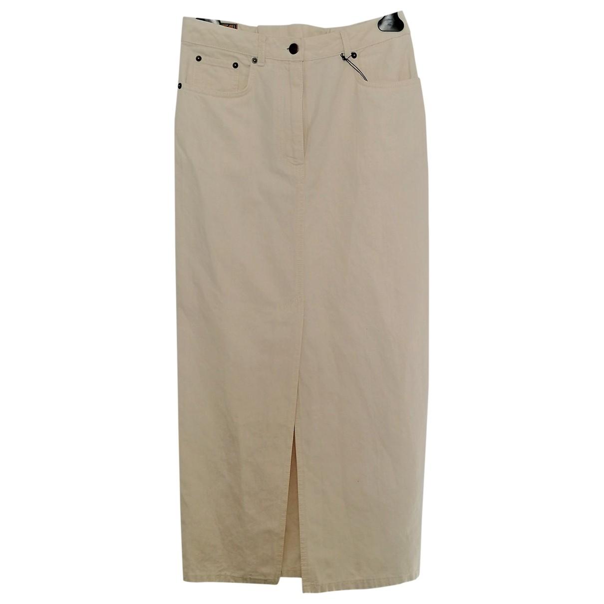 Mcq \N Ecru Cotton skirt for Women 40 IT