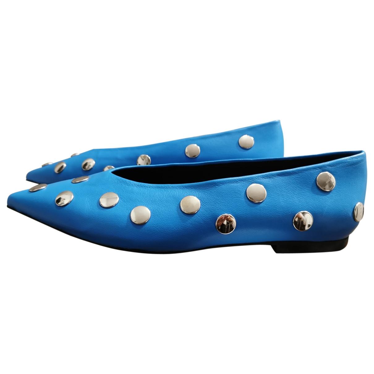 Bimba Y Lola \N Blue Leather Flats for Women 37 EU