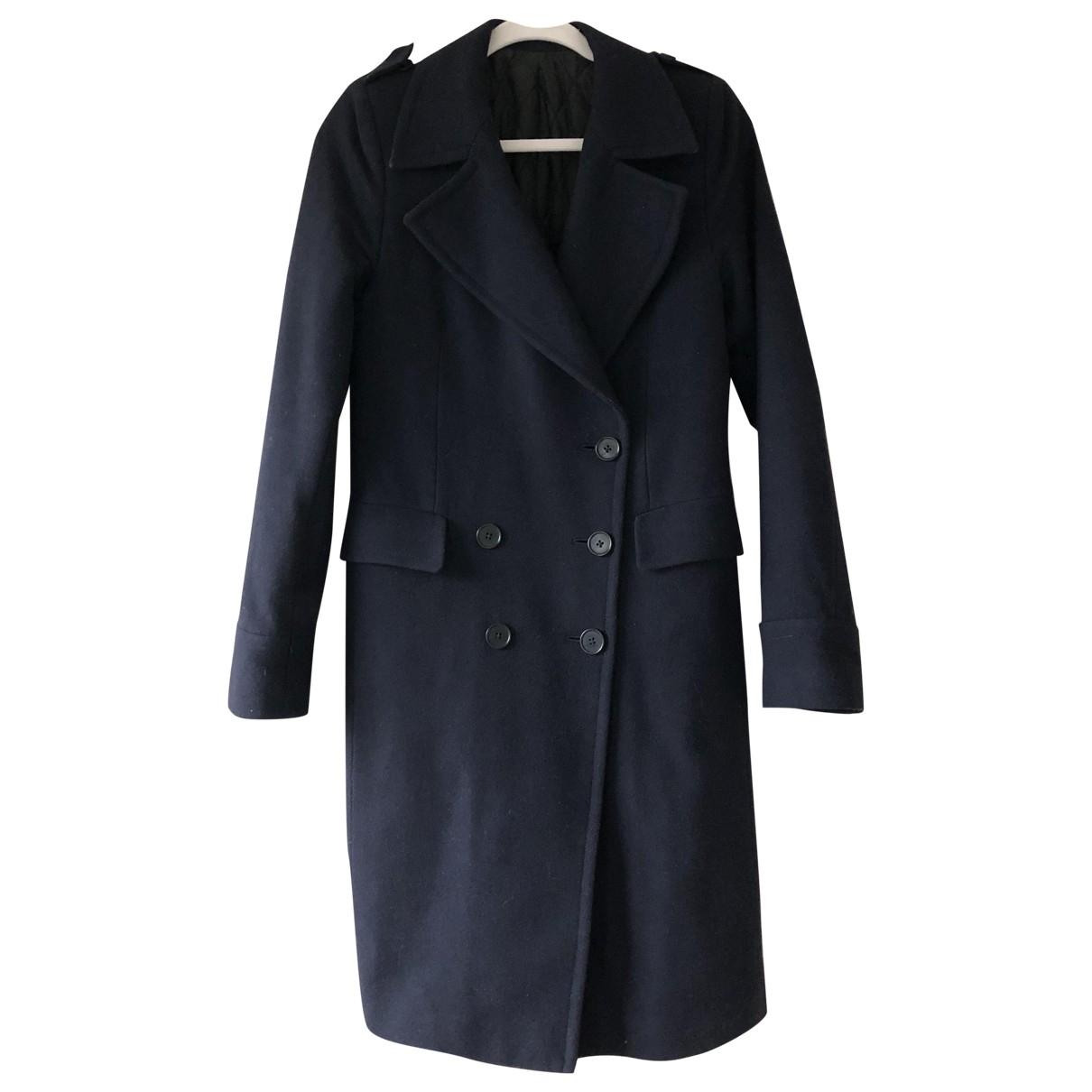 Blk Dnm \N Navy Wool coat for Women XS International