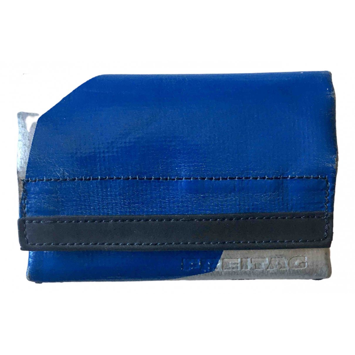 Freitag - Portefeuille   pour femme en cuir - bleu