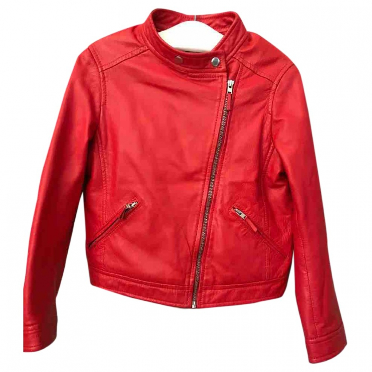 Bonpoint \N Red Leather jacket & coat for Kids 6 years - up to 114cm FR
