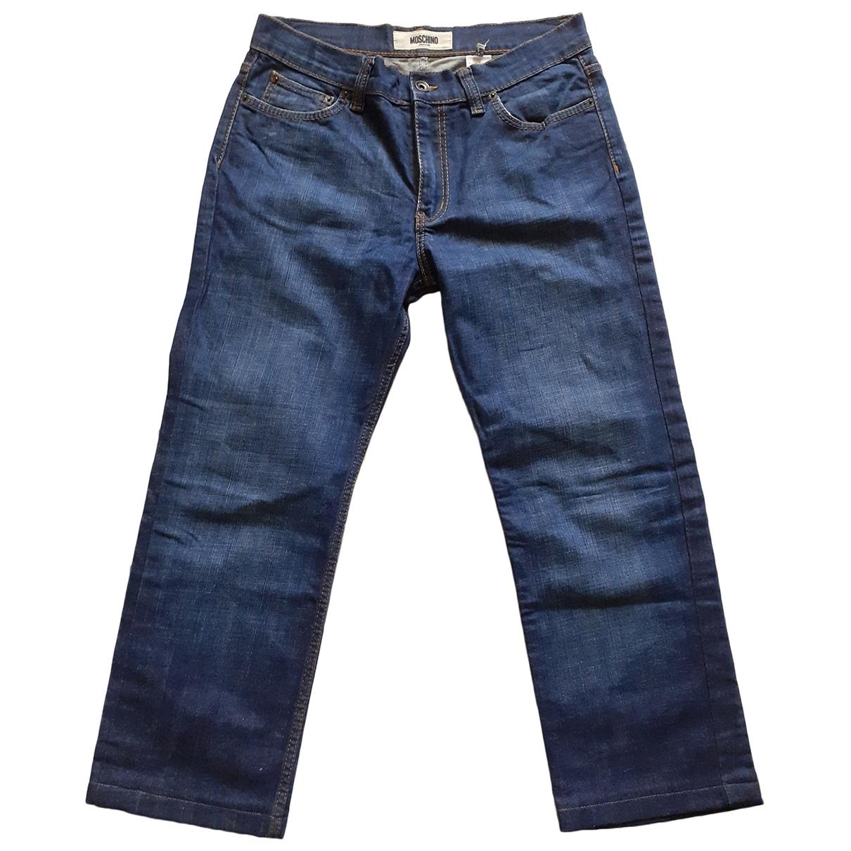 Moschino \N Hose in  Marine Denim - Jeans