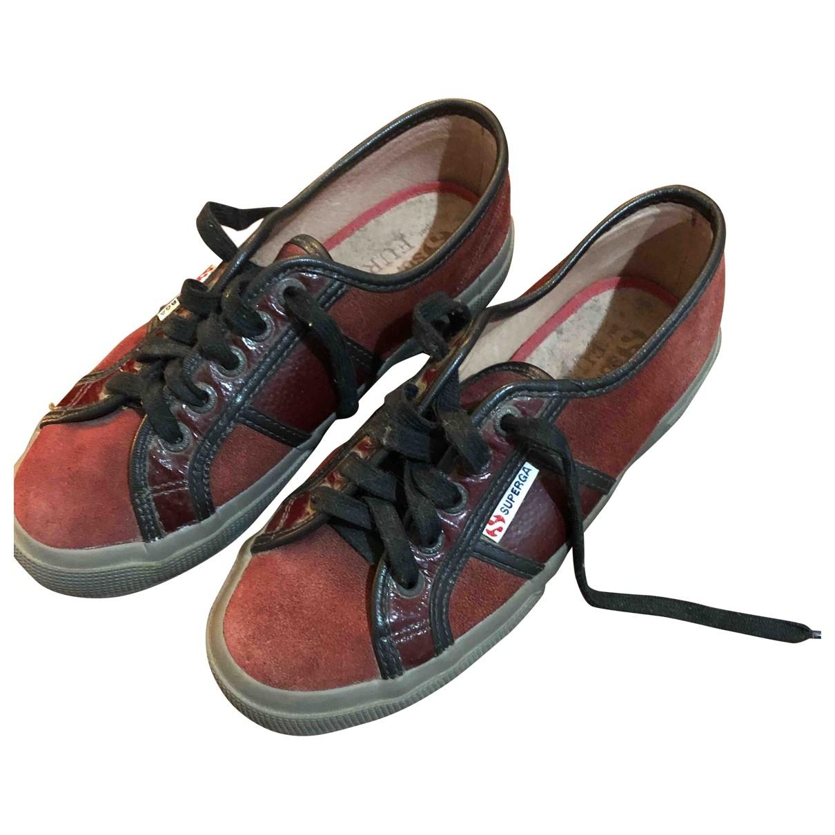 Superga \N Sneakers in  Bordeauxrot Veloursleder