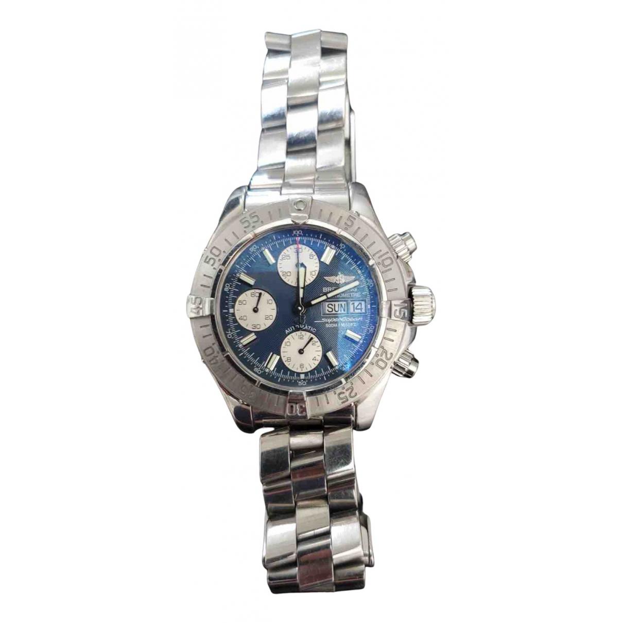 Breitling SuperOcean Blue Steel watch for Men N