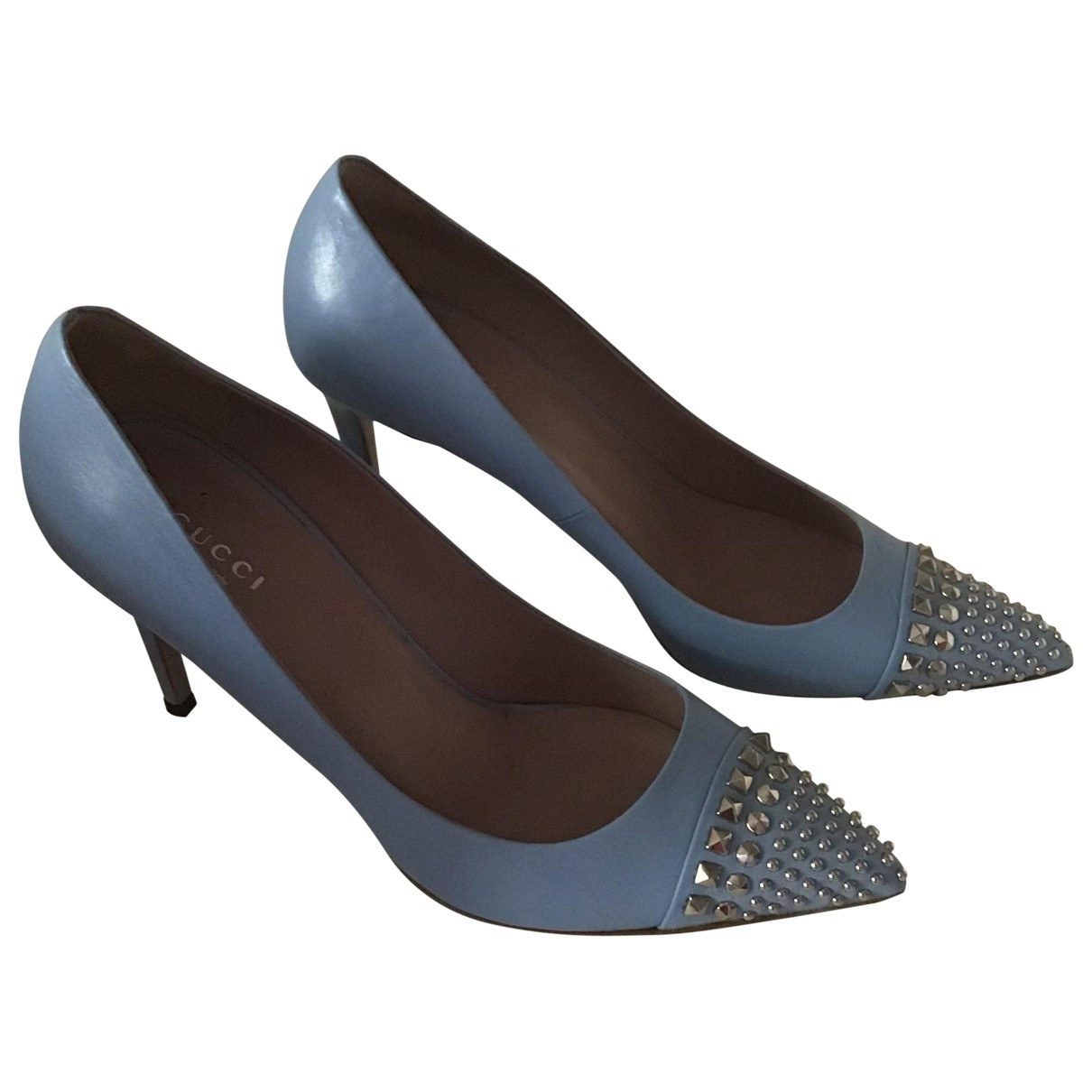Gucci \N Blue Leather Heels for Women 38 EU