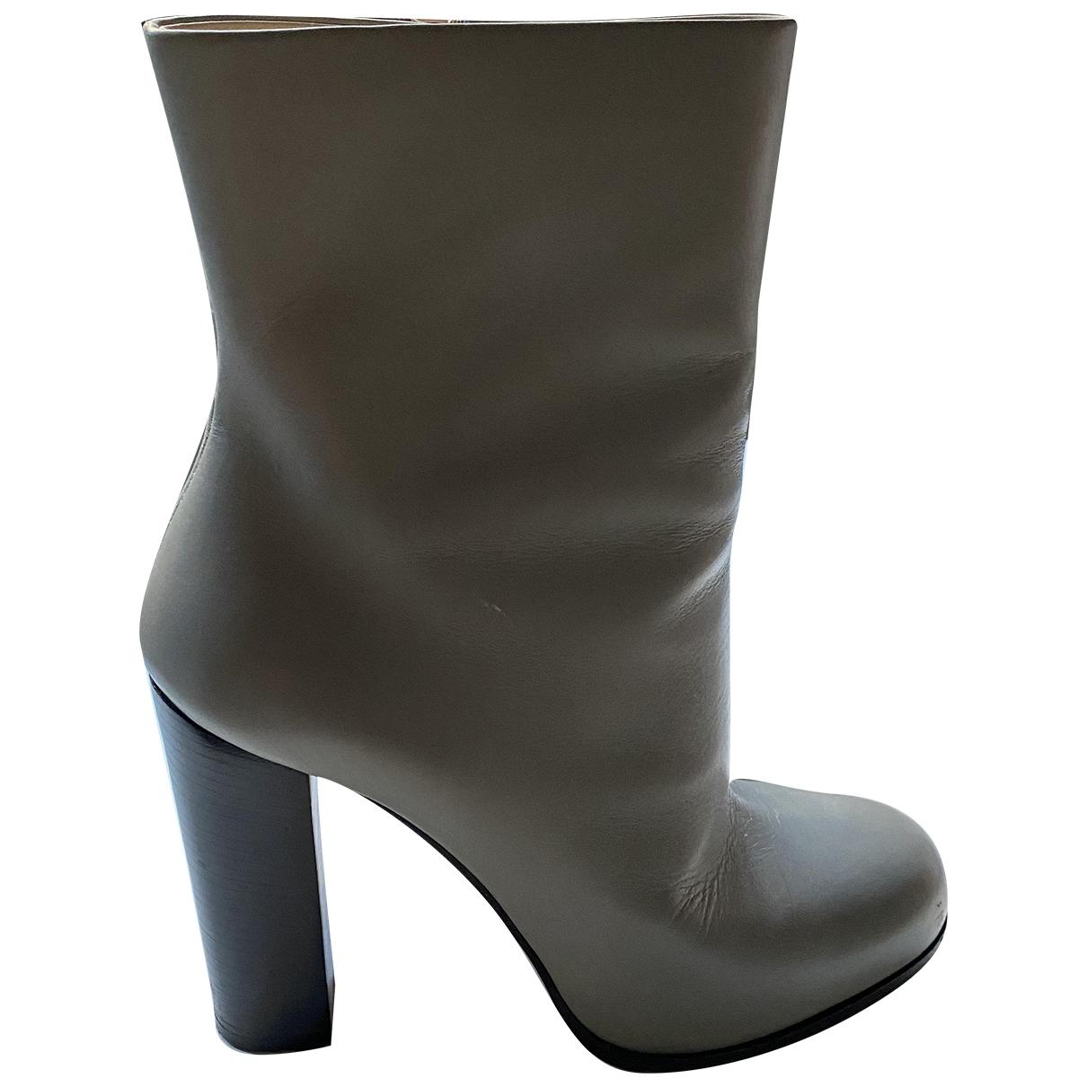 Celine - Boots   pour femme en cuir - gris