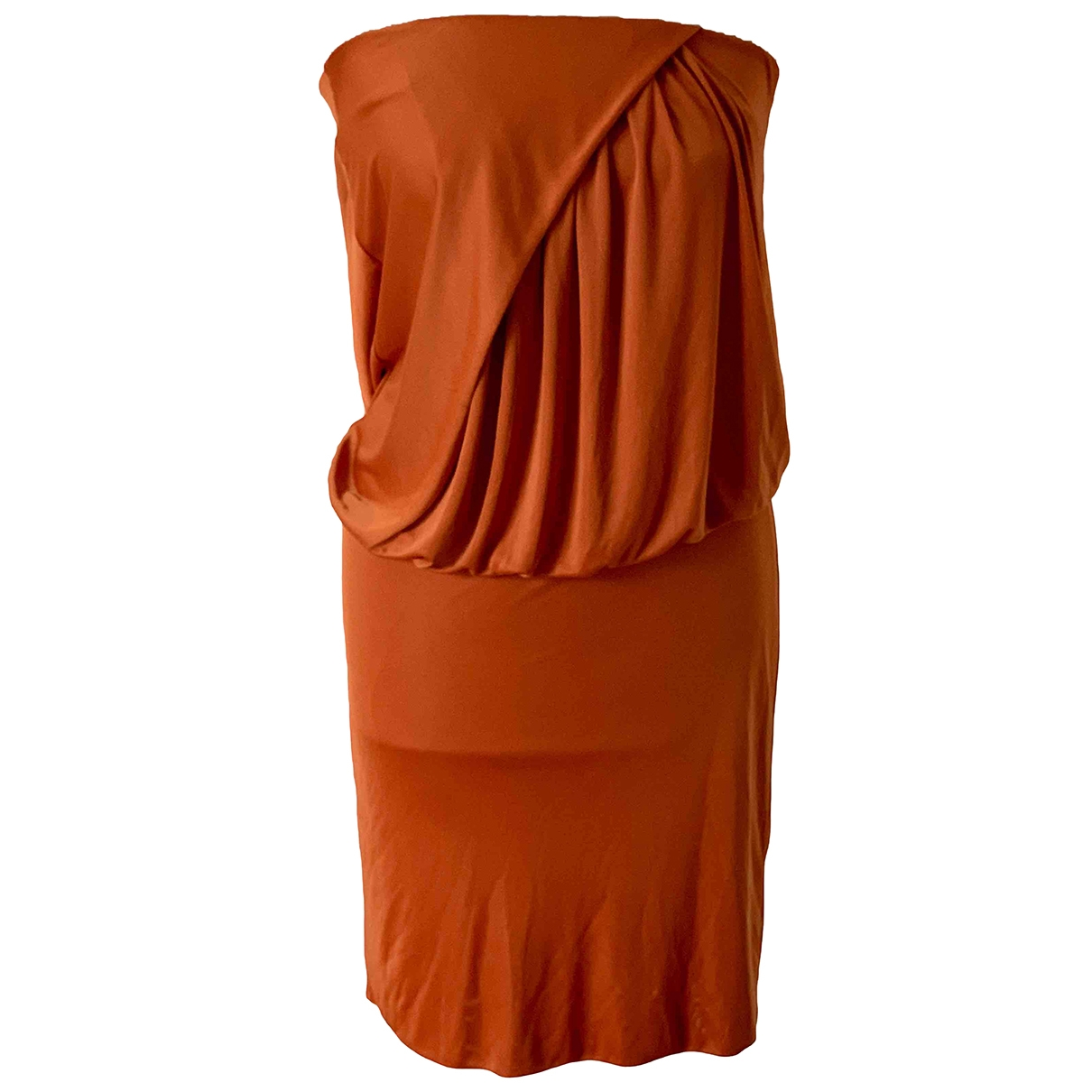 Pinko \N Kleid in  Orange Viskose