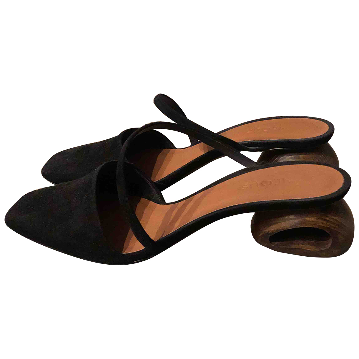 Neous \N Black Leather Mules & Clogs for Women 38 EU