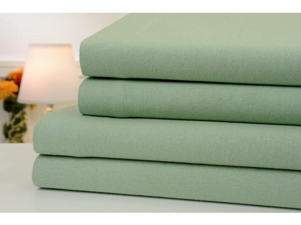 Solid Flannel 4 Piece Sheet Set