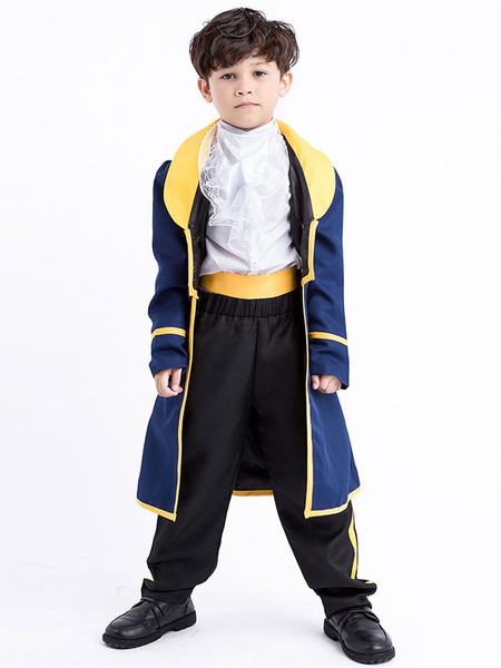 Milanoo Prince Costume Halloween Kids Top And Pants Cummerbund Jacket Cosplay Outfit