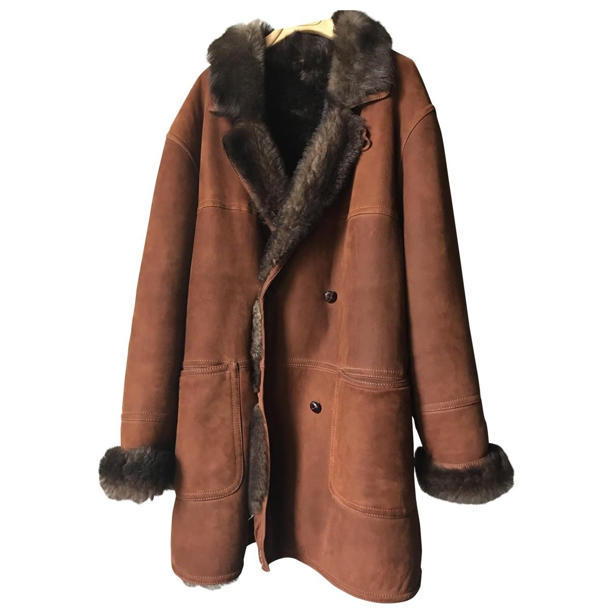 - Manteau   pour homme en mouton - camel