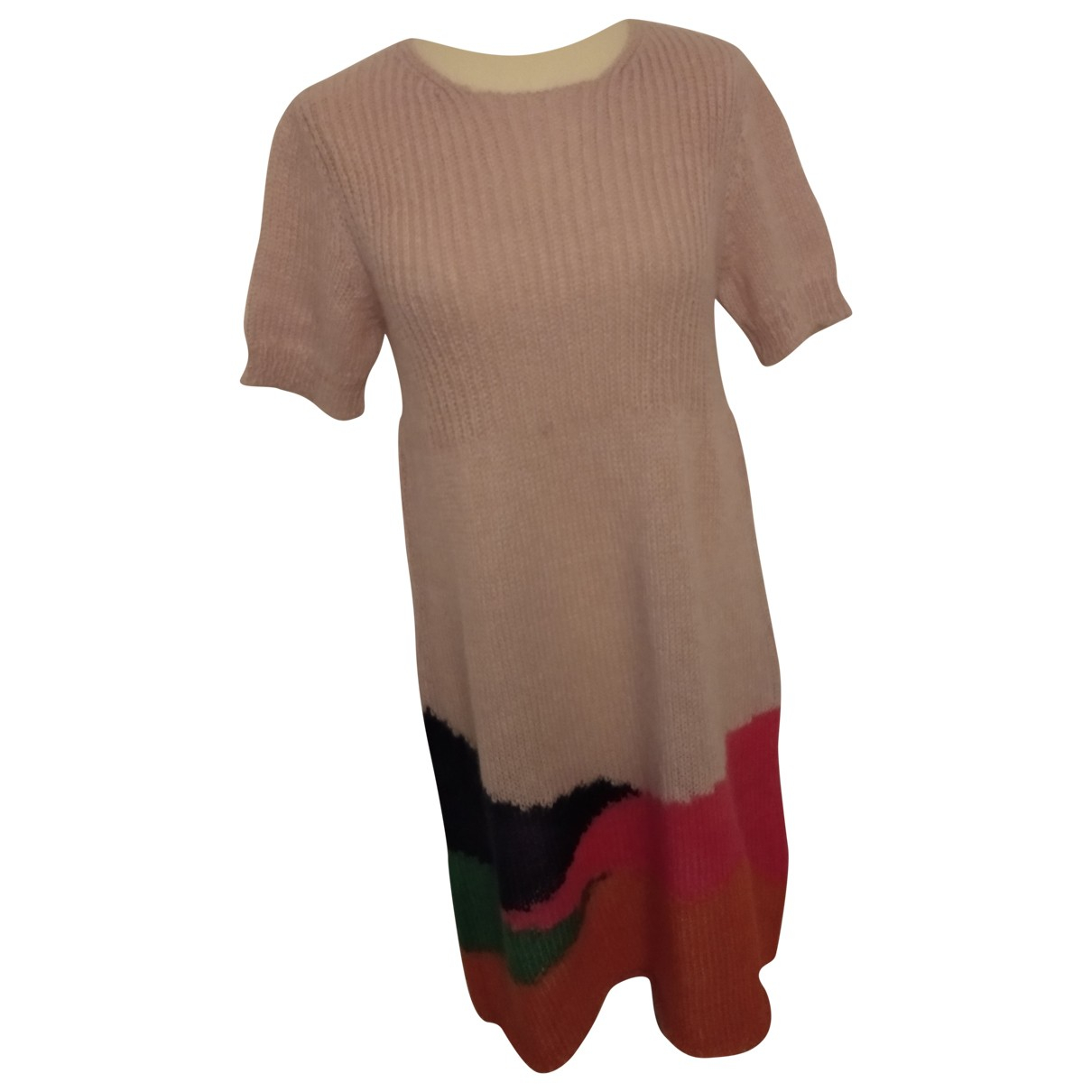 Miu Miu \N Kleid in  Rosa Wolle