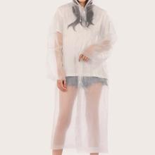 Transparenter Regenmantel mit Kapuze