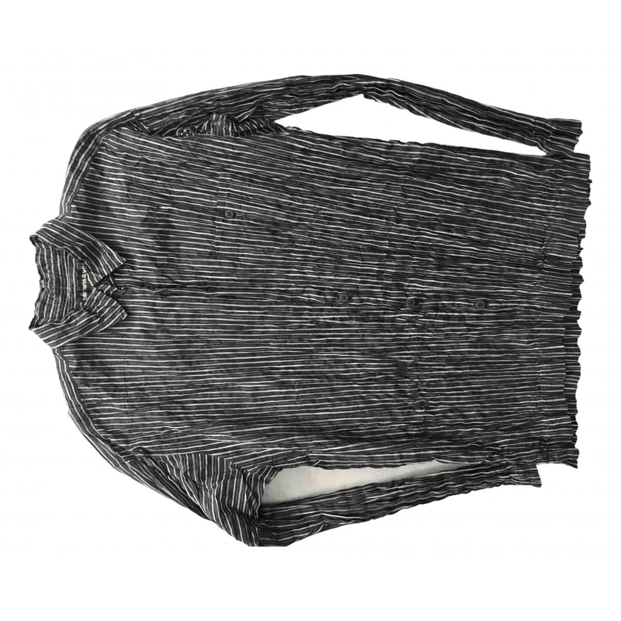 Issey Miyake - Chemises   pour homme en coton - noir