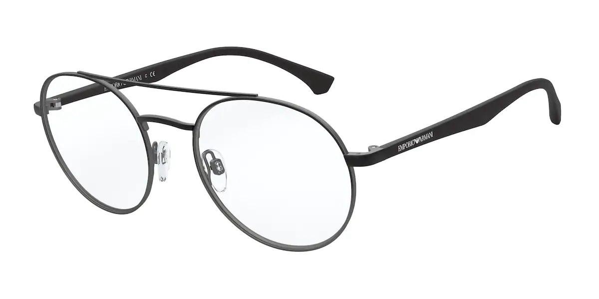 Emporio Armani EA1107 3316 Men's Glasses Black Size 51 - Free Lenses - HSA/FSA Insurance - Blue Light Block Available