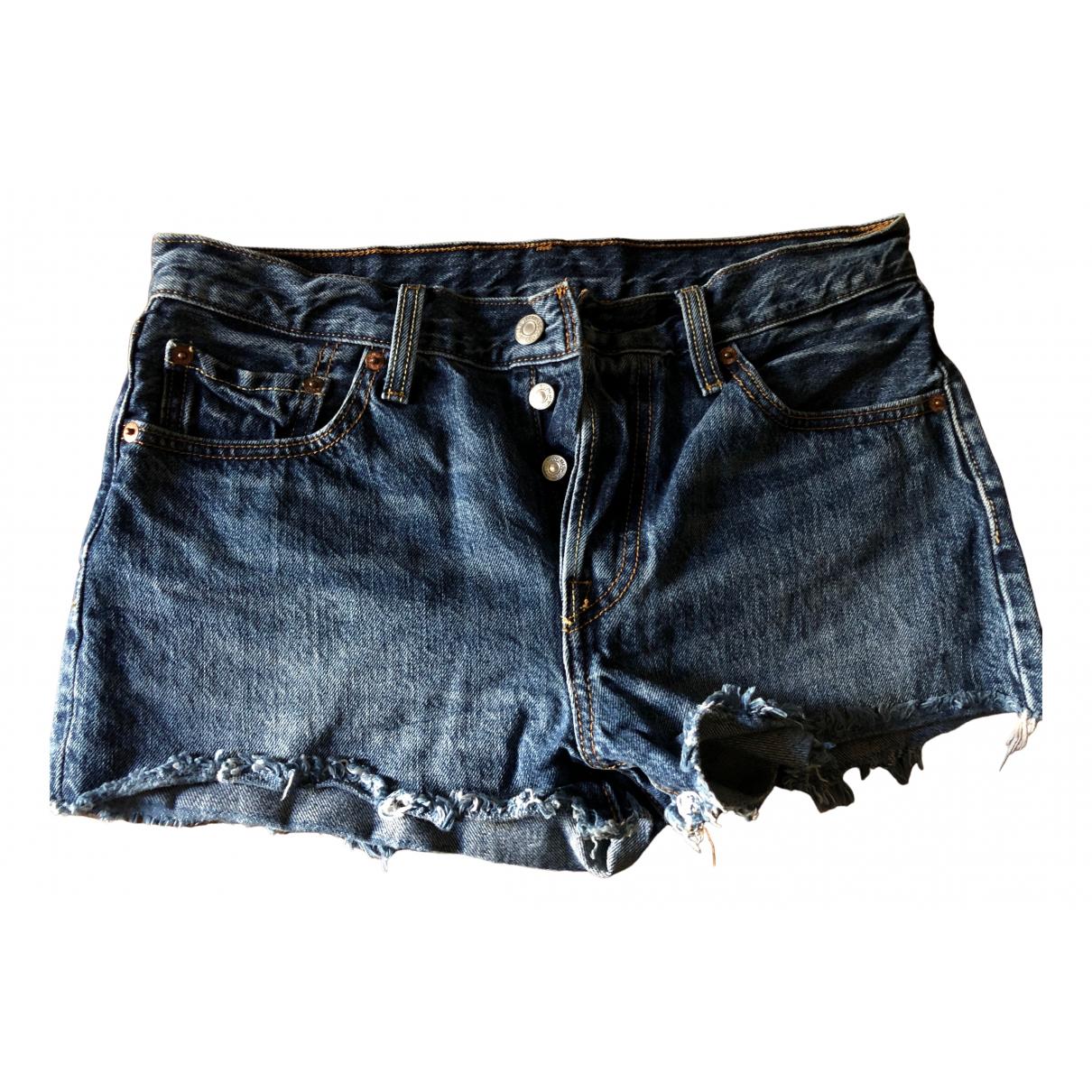 Levis \N Shorts in  Blau Baumwolle
