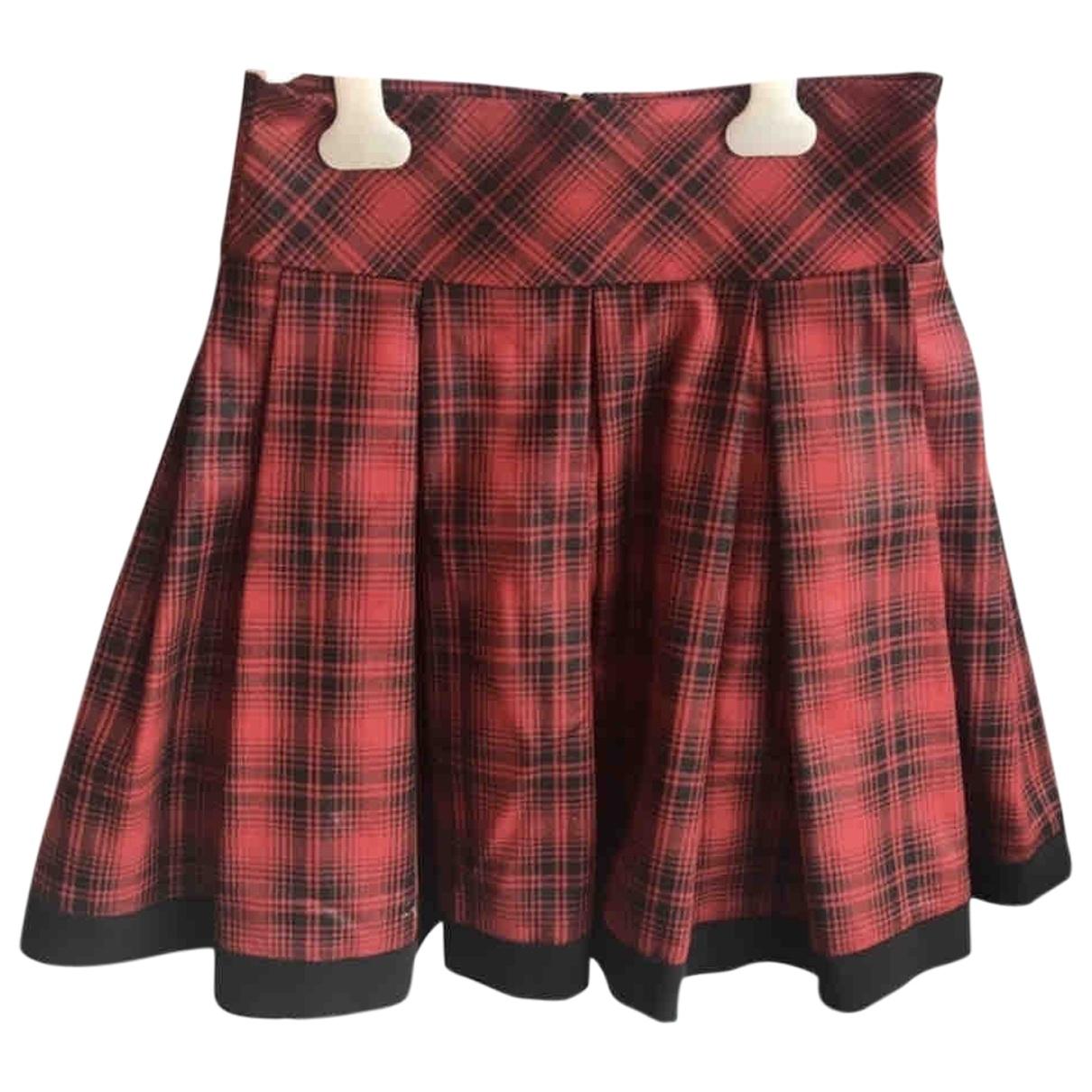 Mangano - Jupe   pour femme en coton - elasthane - rouge