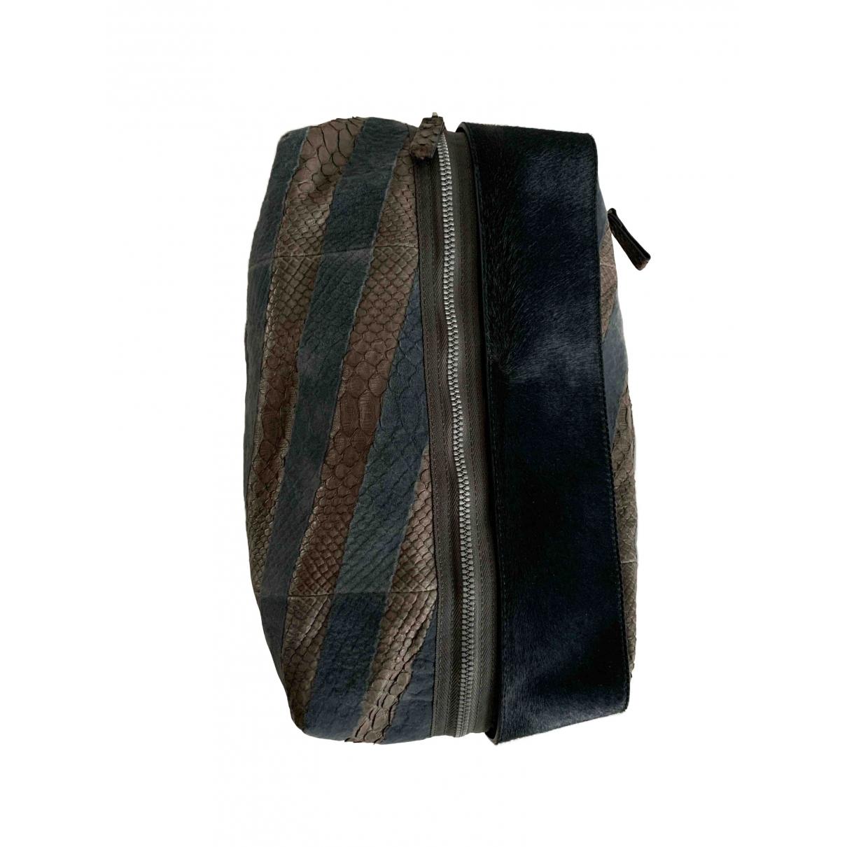 Lanvin \N Green Python Clutch bag for Women \N