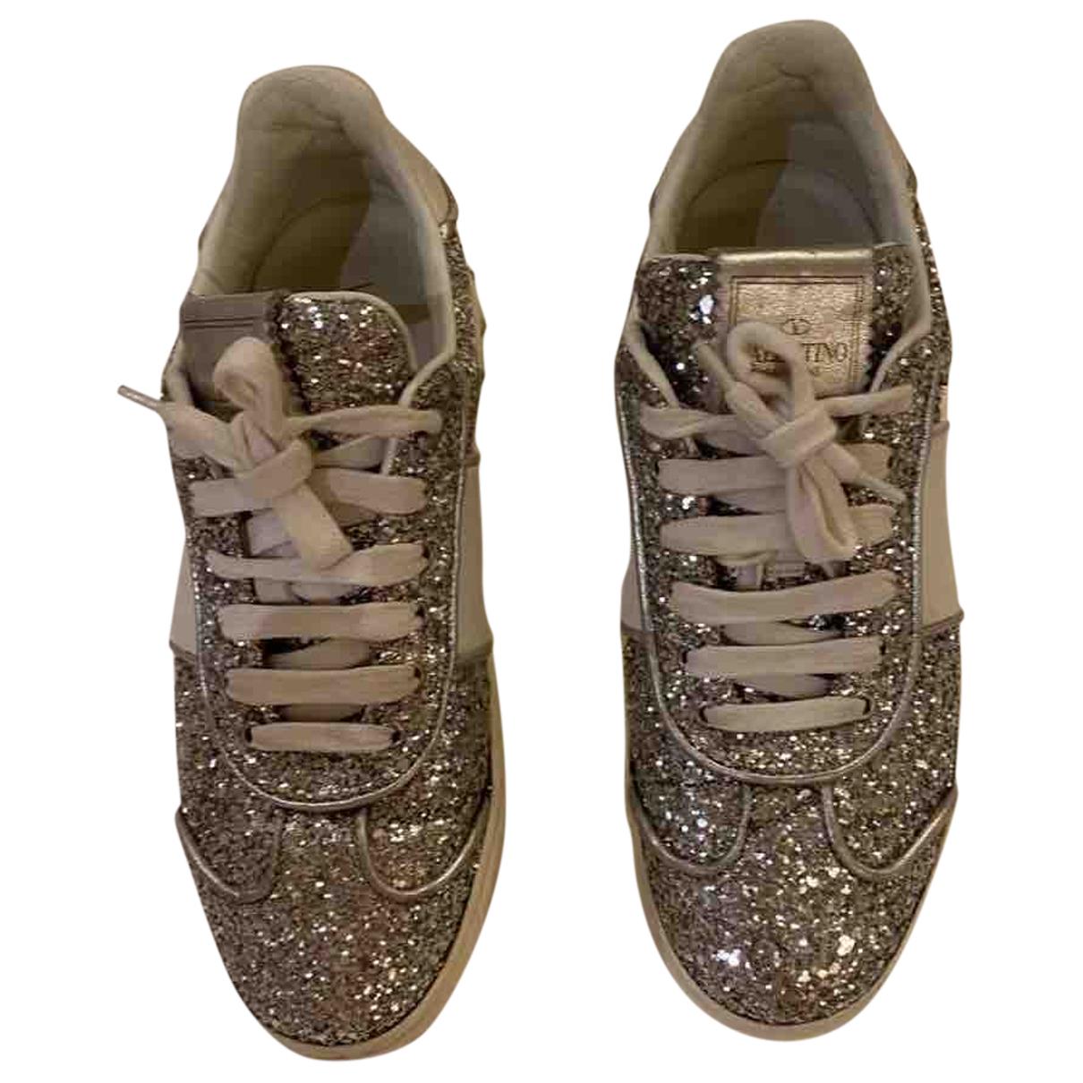 Valentino Garavani \N Sneakers in  Silber Mit Pailletten