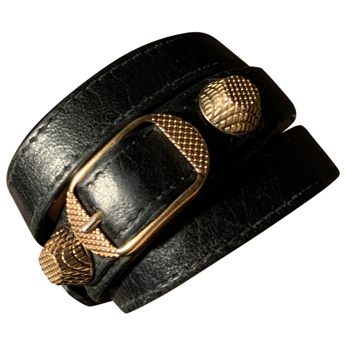 Balenciaga \N Black Leather bracelet for Women \N