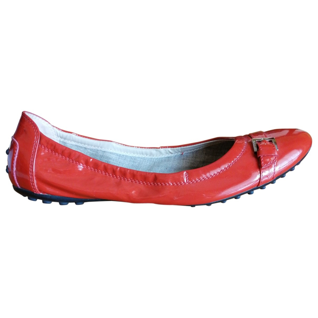 Tod's \N Red Patent leather Ballet flats for Women 38 EU
