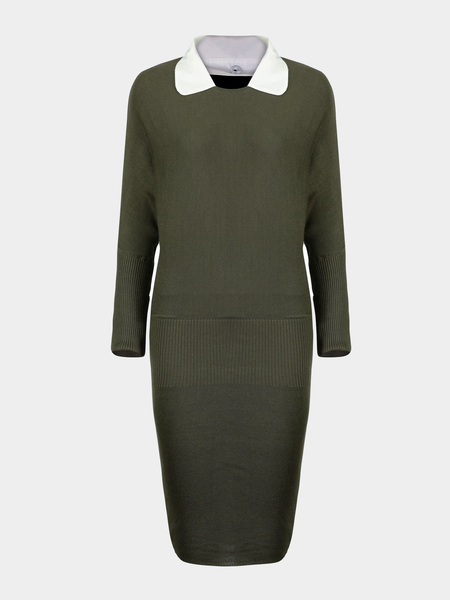 Yoins Jumper Dress with White Collar