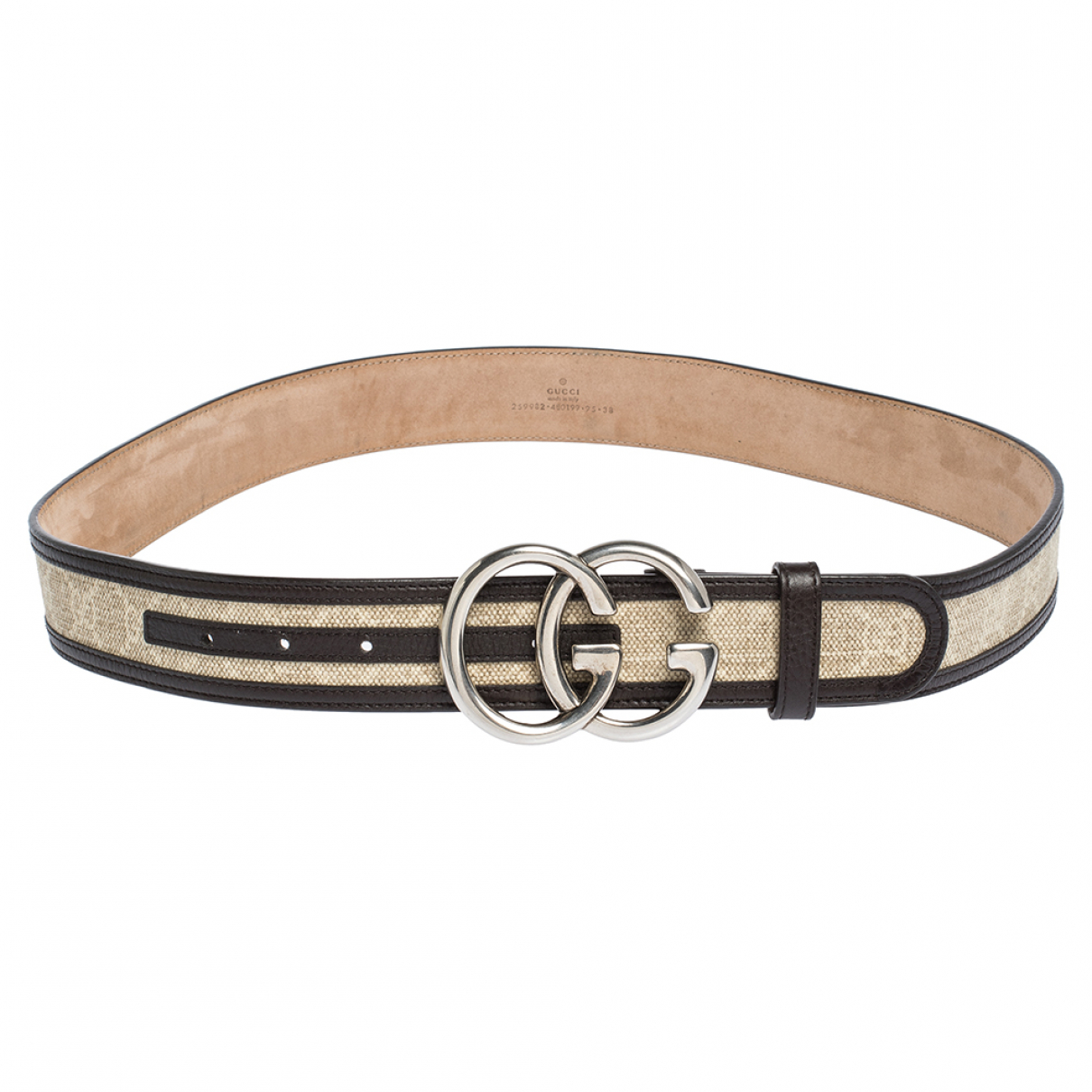 Gucci \N Beige Leather belt for Men 95 cm