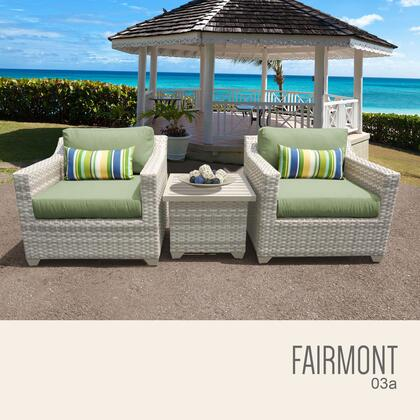 FAIRMONT-03a-CILANTRO Fairmont 3 Piece Outdoor Wicker Patio Furniture Set 03a with 2 Covers: Beige and