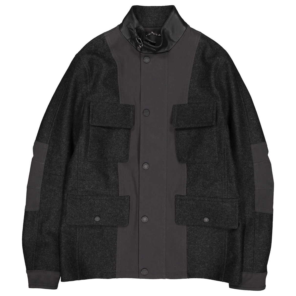 Louis Vuitton \N Jacke in  Anthrazit Wolle