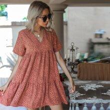Kleid mit komplettem Muster