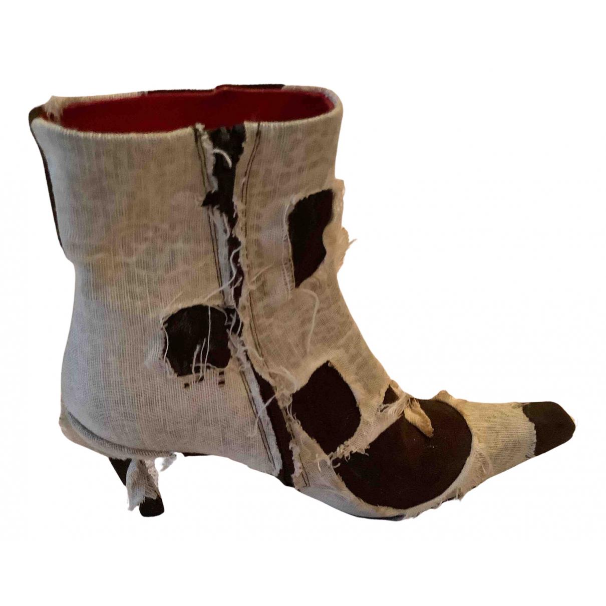 Free Lance - Boots   pour femme en suede - marron