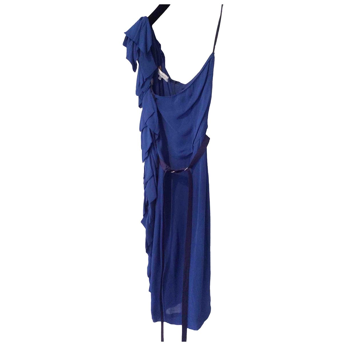 Aquascutum \N Kleid in  Blau Viskose