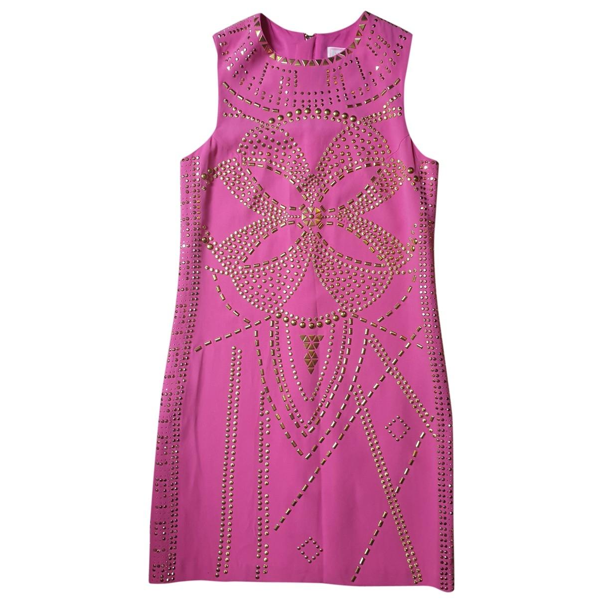 Versace X H&m - Robe   pour femme en soie - rose