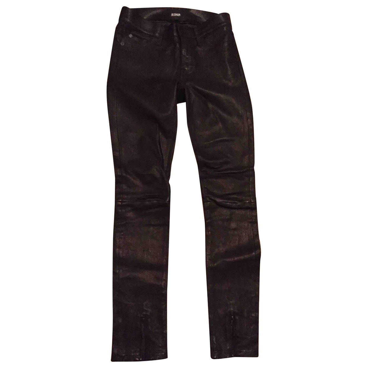 H By Hudson \N Black Leather Trousers for Women 34 FR