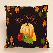 Vegetable Print Cushion Cover Without Filler