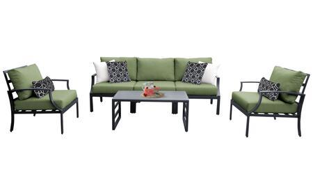 Lexington LEXINGTON-06r-CILANTRO 6-Piece Aluminum Patio Set 06r with 2 Club Chairs  1 Armless Chair  1 Left Arm Chair  1 Right Arm Chair and 1 Coffee