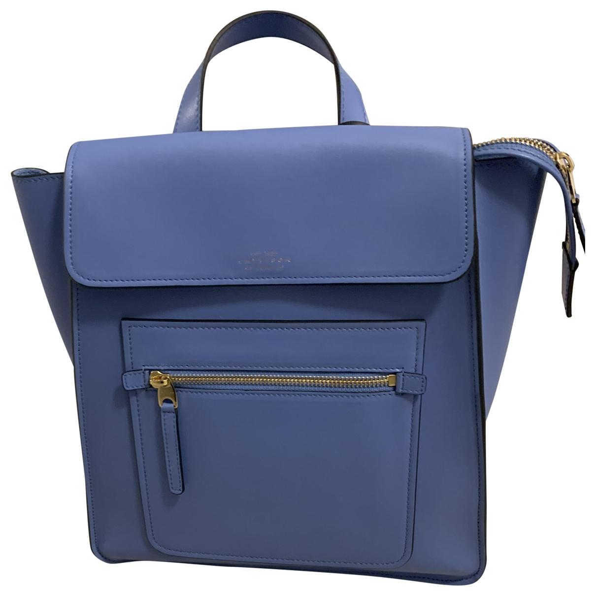 Smythson - Sac a dos   pour femme en cuir - bleu